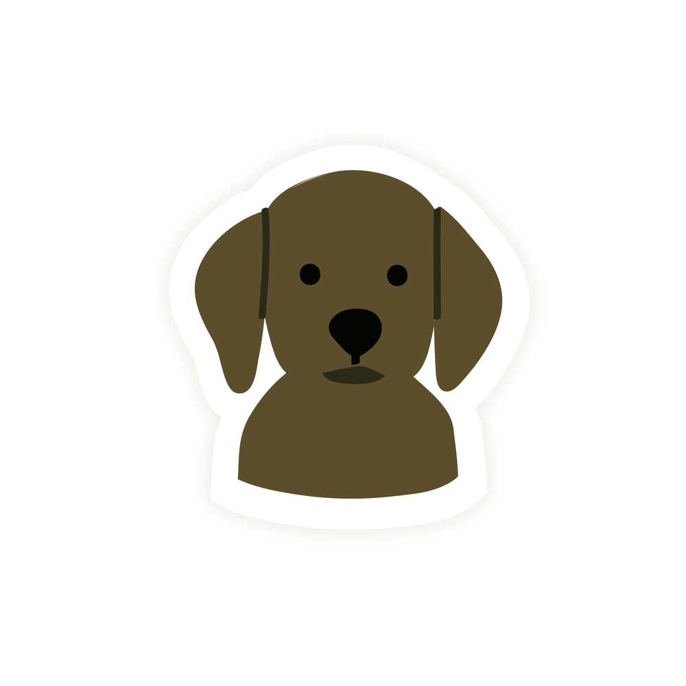 Labrador Dog Vinyl Sticker