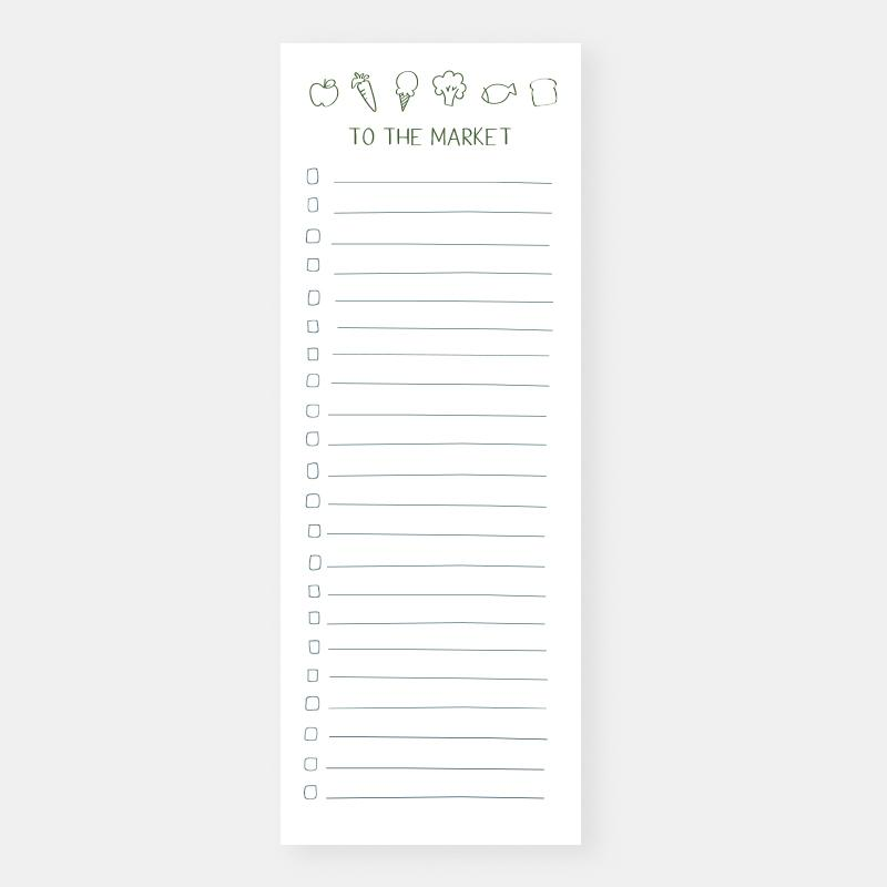 To The Market Notepad