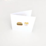 Burger and Fries Mini Card Set of 10