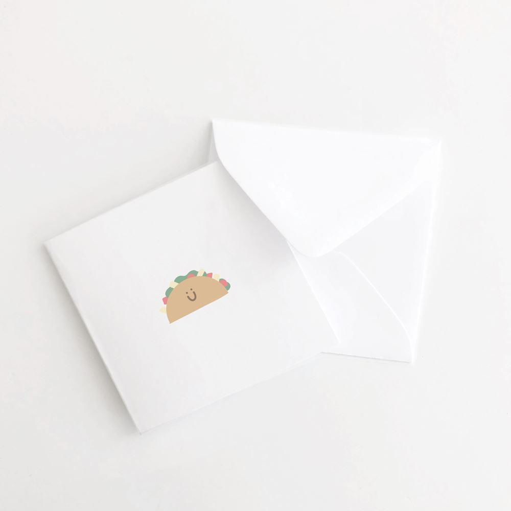 Taco Mini Card Set of 10 flat card A Jar of Pickles