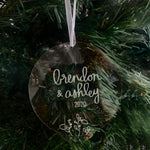 Custom Holiday Ornament: Names