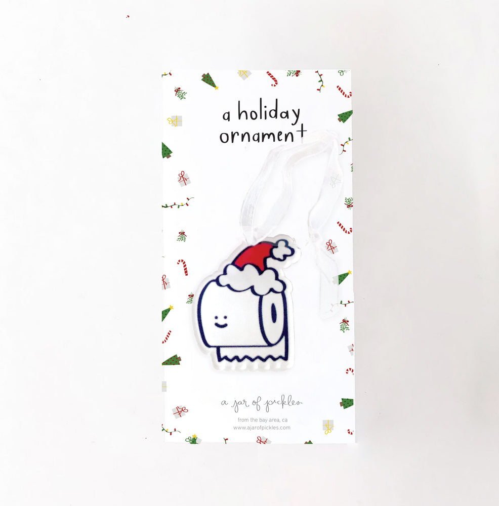 Toilet Paper Holiday Ornament