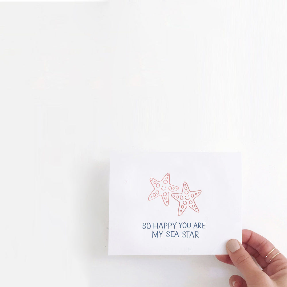 So Happy You Are My Seastar Siblings Day Card