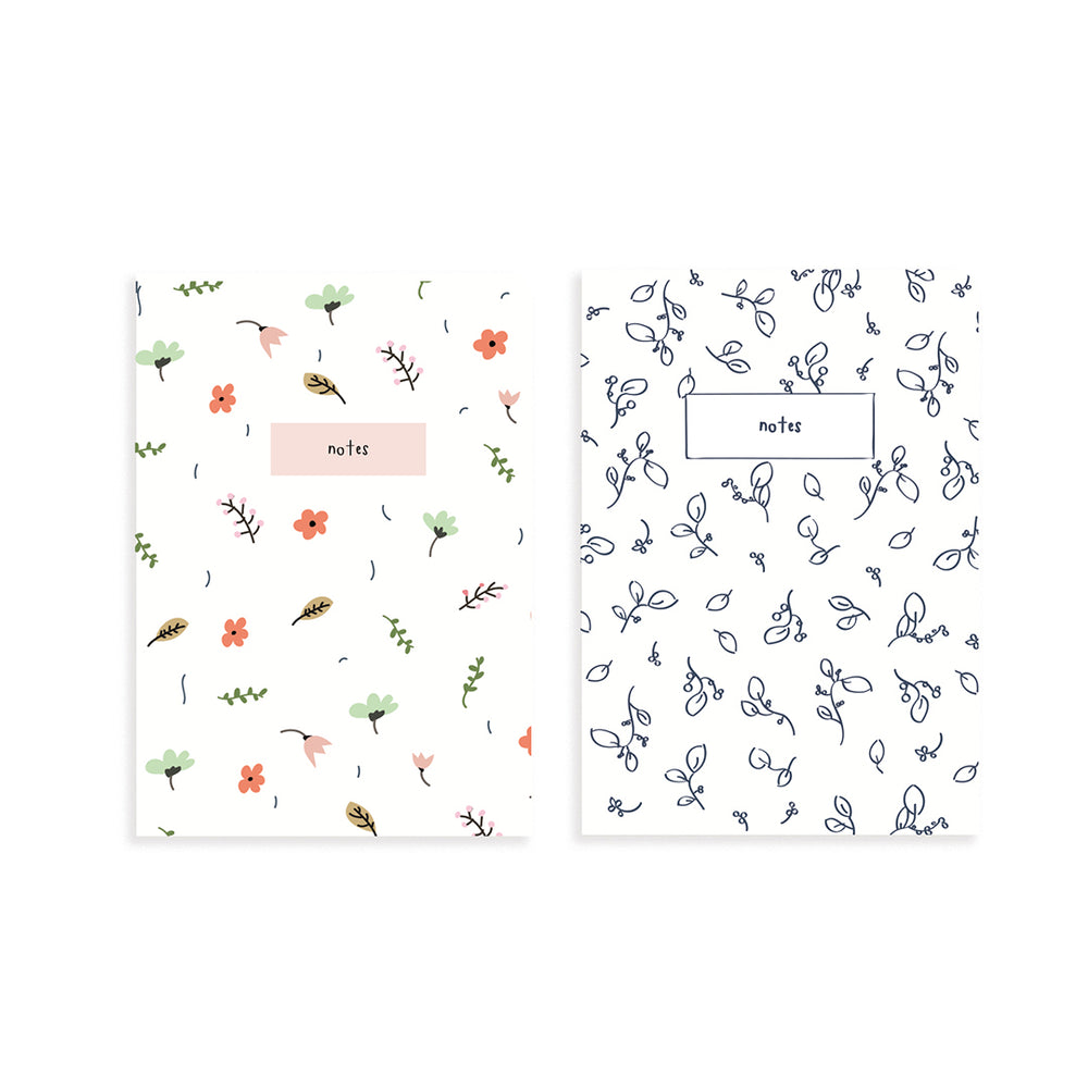 Floral Pocket Notebook Set of 2