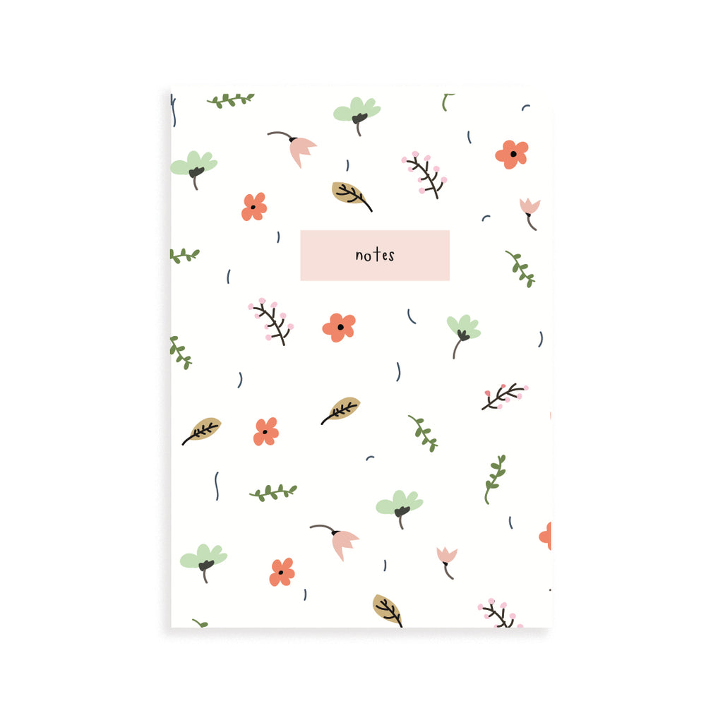 Spring Floral Pocket Grid Notebook