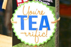 You're TEA-rrific... a DIY thank you gift idea!