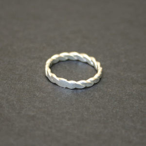 Twist Silver-Plated Ring - Mexico