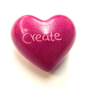 Create Soapstone Word Heart - Kenya