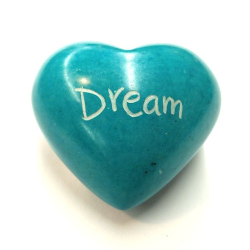 Dream Soapstone Word Heart - Kenya