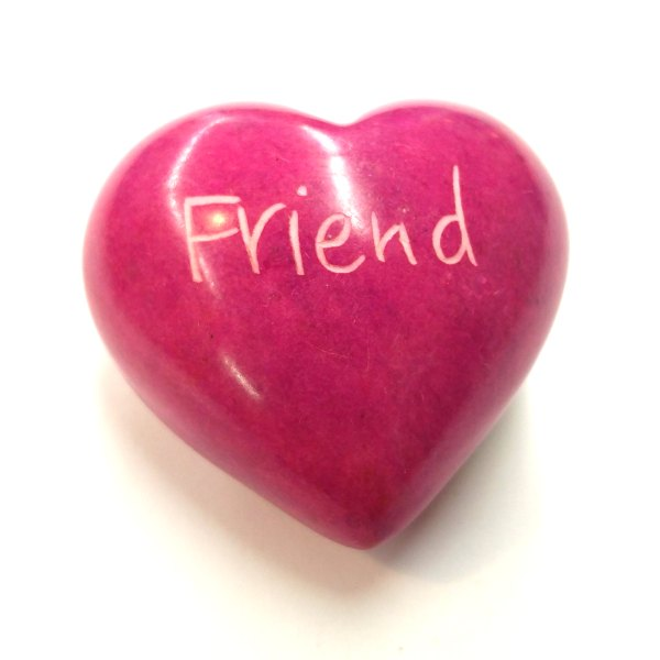 Friend Soapstone Word Heart - Kenya