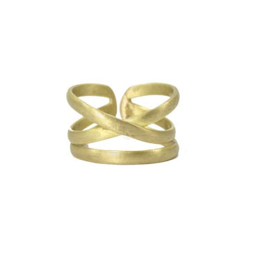 Gold X Ring - India