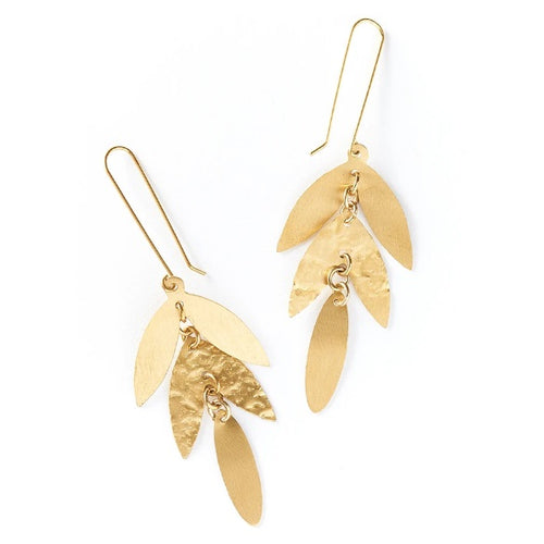 Chameli Leaf Drop Earrings - India