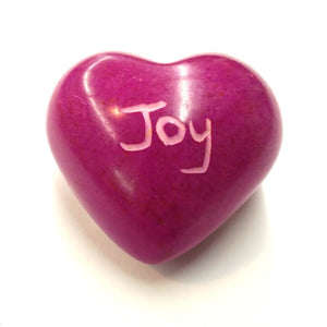 Joy Soapstone Word Heart - Kenya