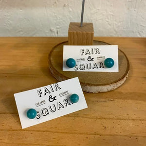 Tagua Nut Stud Earrings - Ecuador