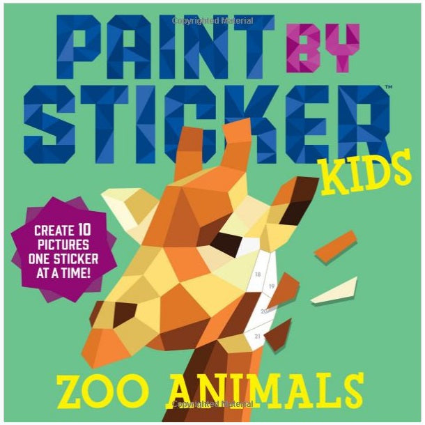 Paint By Sticker Book - Zoo Animals