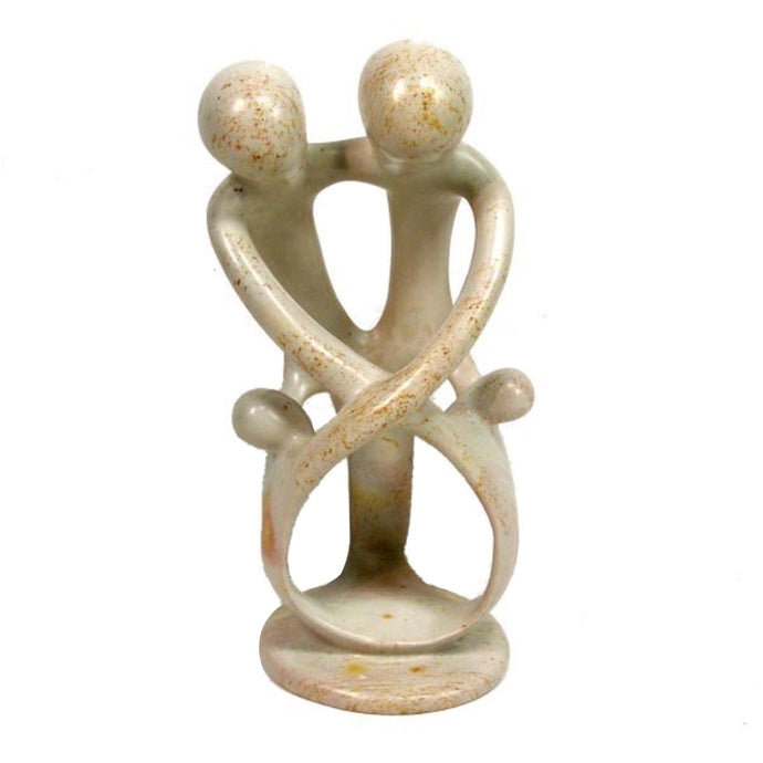 Soapstone Family Sculpture, 2 Children - Kenya