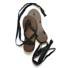 Size 6 Brown Base Sseko Ribbon Sandals - Uganda