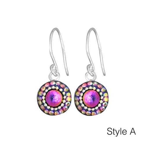 Small Circle Mosaic Earrings - Mexico