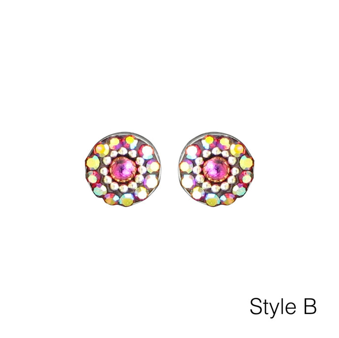 Circle Stud Mosaic Earrings - Mexico