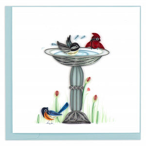 Quilled Bird Bath Card - Vietnam