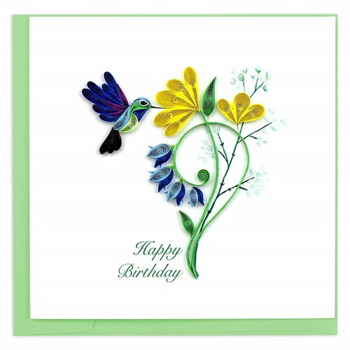 Quilled Birthday Hummingbird Card - Vietnam