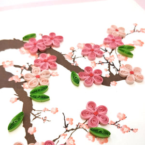 Quilled Cherry Blossom Card - Vietnam