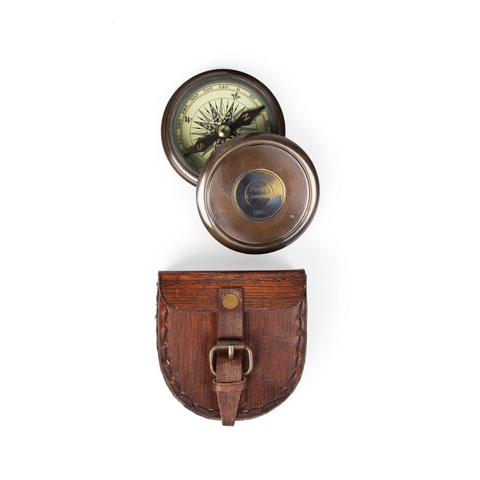 Compass with Leather Case - India