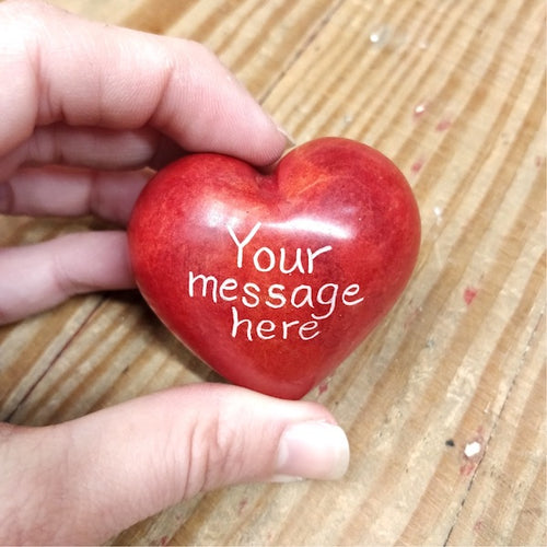 Custom One-Sided Word Heart - Kenya