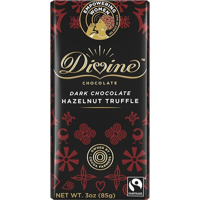 Hazelnut Truffle Dark Chocolate Bar - Ghana