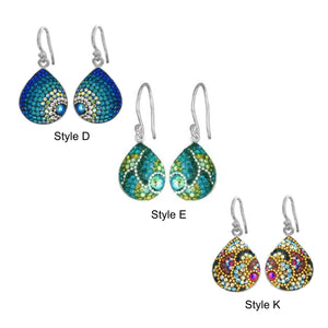 Medium Teardrop Mosaic Earrings - Mexico