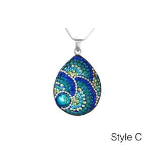 Medium Teardrop Mosaic Necklace - Mexico