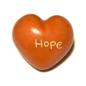 Hope Soapstone Word Heart - Kenya