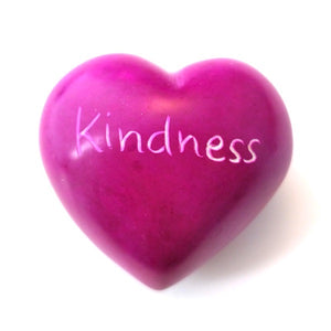 Kindness Soapstone Word Heart - Kenya