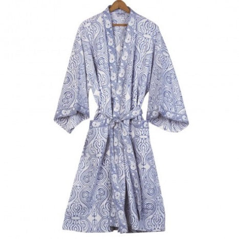 Block Print Spa Robe - India
