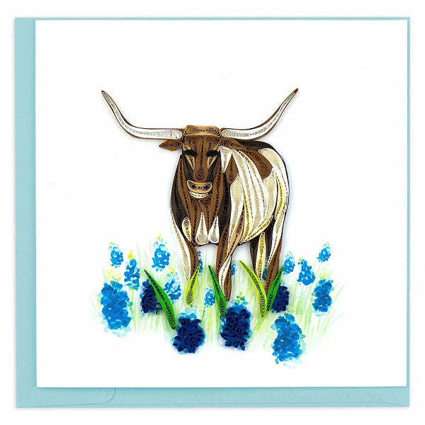 Quilled Texas Longhorn Card - Vietnam