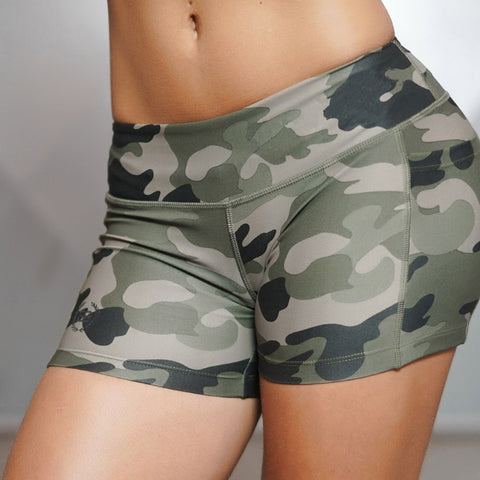 Sexy, Cute Women's Camo Fitness Yoga shorts Fit to Size