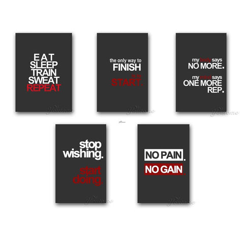 Quotable Wall Canvas Art Motivational Poster for Fitness – Living Rooms, Home Décor, Gym, Office