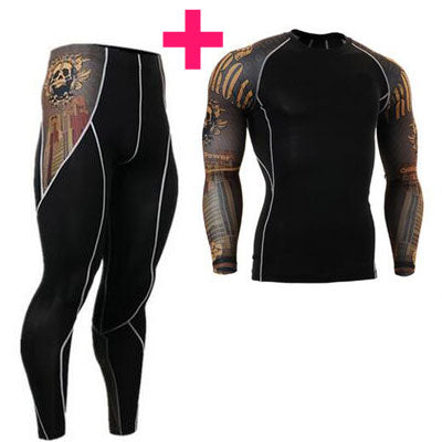 Stretchy, Long-Sleeved, Cotton Compression Shirt for Bodybuilding, MMA, Gym, Fitness, Athletes, Sports