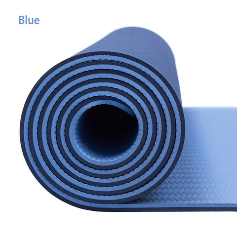 Durable 6-mm TPE Non-Slip Yoga Mat for Fitness and Blissfulness