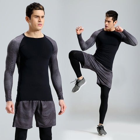 Quick-drying Breathable Elastic Men's Fitness Suit for Gym Workout