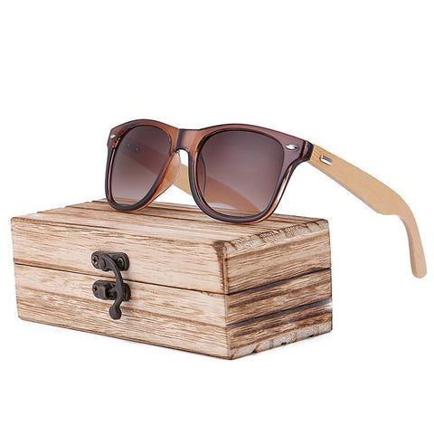 Cute, Sexy, Cool Bamboo Sunglasses – Elegance – For Women – Bamboo Frame, Polycarbonate Lenses – Photochromic – Anti-UV – Anti-reflective – Mirror Lenses – UV400