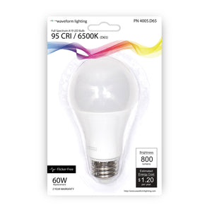 NorthLux™ 95 CRI E26 A19 LED Bulb for Art & Studio