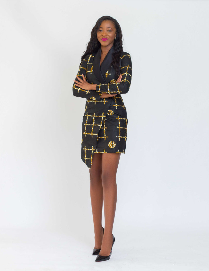 Presido Assymetrical Blazer dress by JVK Clothing