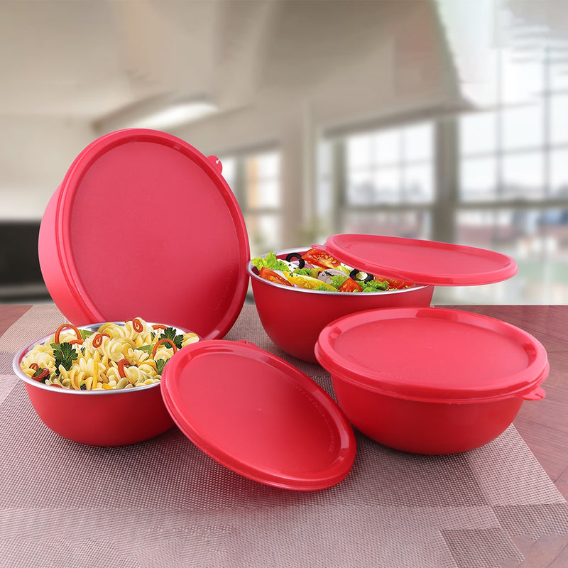 4 PCS Storage Bowl with Solid Lid - Euro