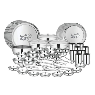 JAGDAMBA CUTLERY LIMITED Dinner Set 98 PCS Dinner set (8 People) - Tulip