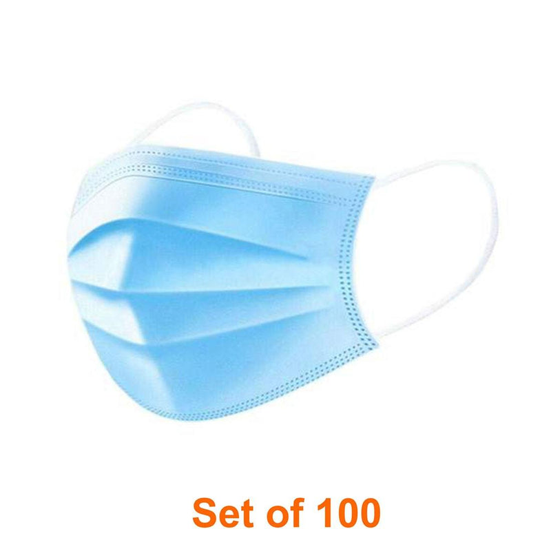 Disposable 3-Ply Face Mask (without Nose Pin)