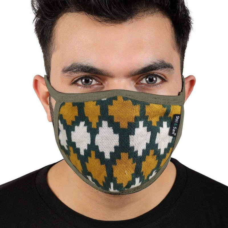 Reusable 2-Layers Cotton Printed Design A Face Mask - Set of 3
