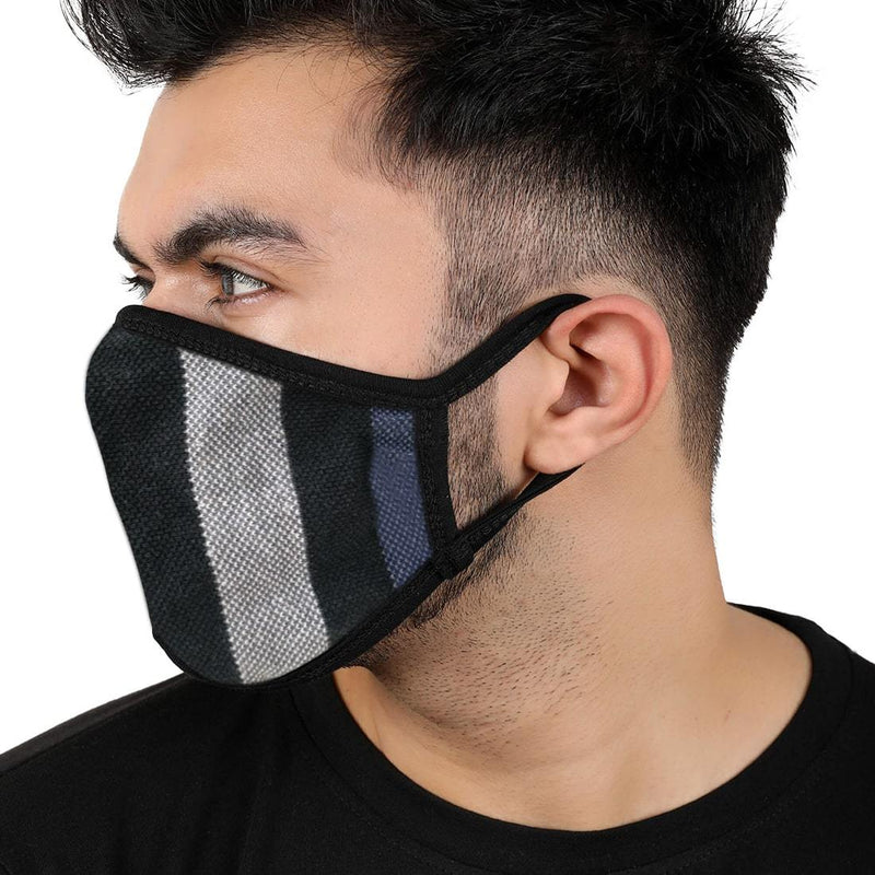 Reusable 2-Layers Cotton Strip Design B Face Mask - Multi Color - Set of 3