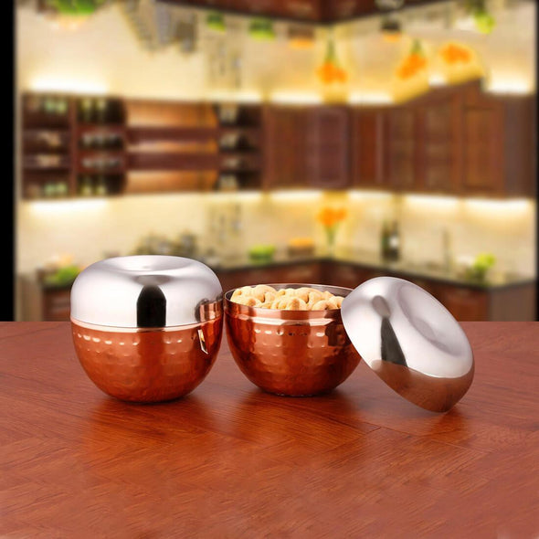 JAGDAMBA CUTLERY LIMITED Serveware 2 PCS COPPER Canister Set - Nile