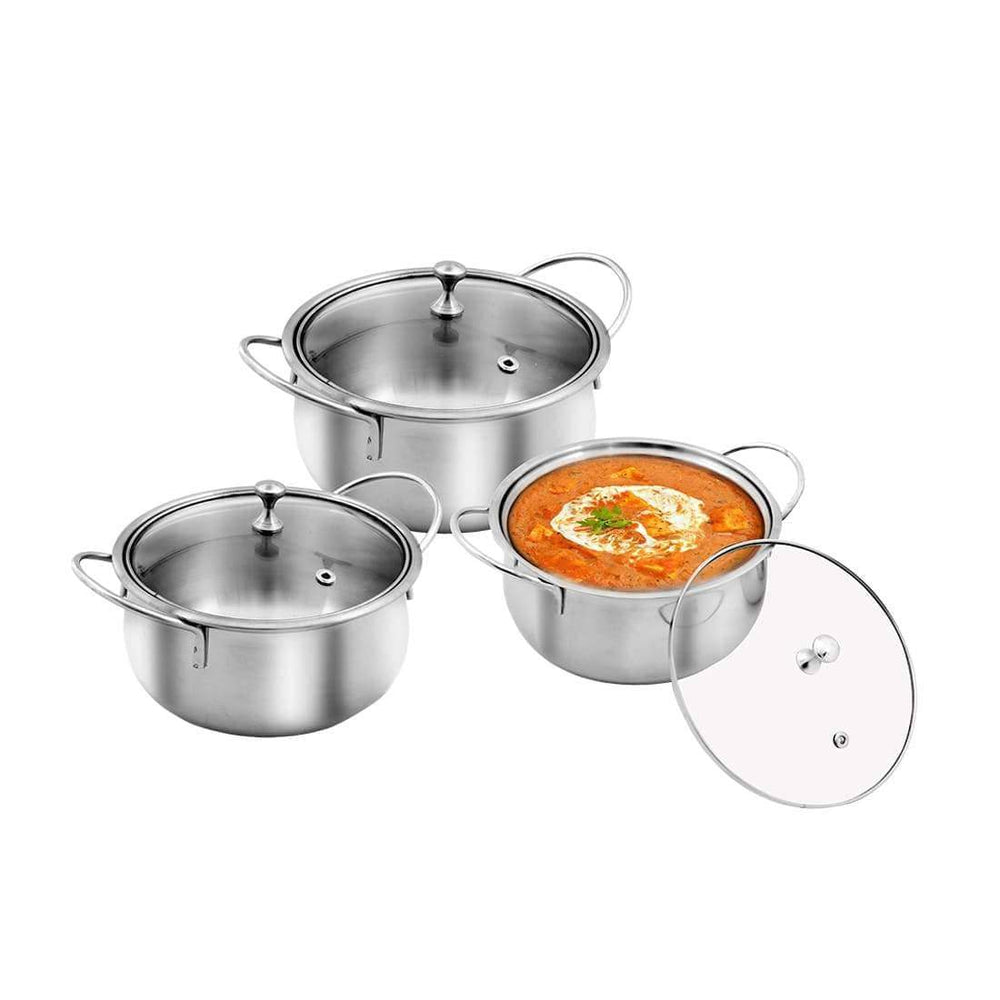 JAGDAMBA CUTLERY LIMITED Serveware 3 PCS Stainless Steel Celebration Serving Set